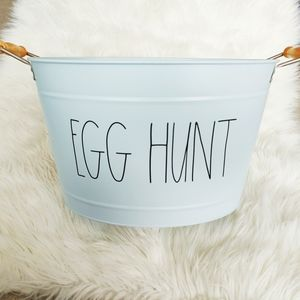 Rae Dunn Egg Hunt Large Metal Container
